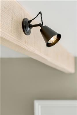 Single Curtis Spot Light in Matt Black