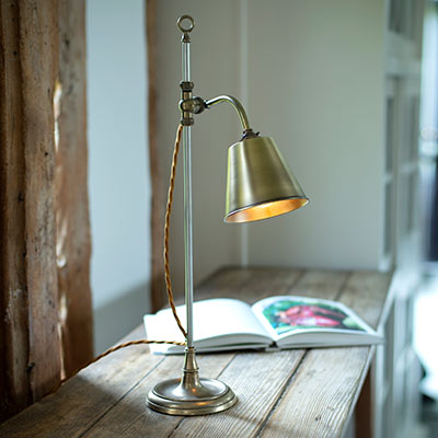 Abercrombie Table Lamp, Antiqued Brass