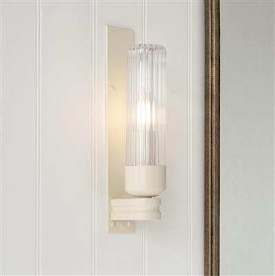 Raydon Wall Light in Plain Ivory (Fluted Glass)