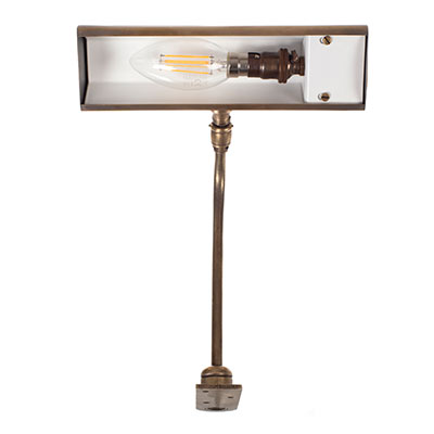Drummond Picture Light Small (F) in Antiqued Brass