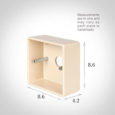 Single Surface Mounting Box in Plain Ivory