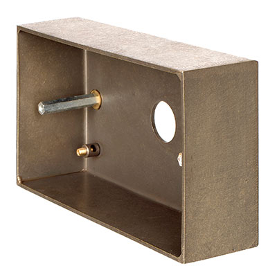 Double Surface Mounting Box in Antiqued Brass