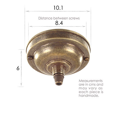 Fordham Ceiling Rose Cable Grip in Antiqued Brass