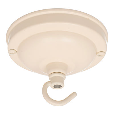 Fordham Ceiling Rose with Hook in Plain Ivory
