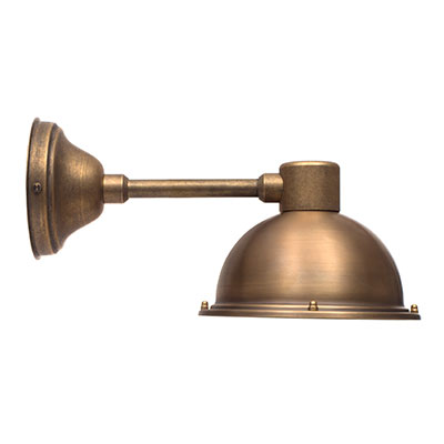 Derby Spot Lamp in Antiqued Brass