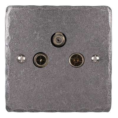3 Way Satellite Socket Polished Hammered(discontinued, only stock shown available)