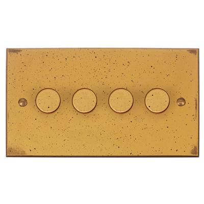4 gang rotary dimmer switch 2 way bevelled plate jim lawrence. Black Bedroom Furniture Sets. Home Design Ideas