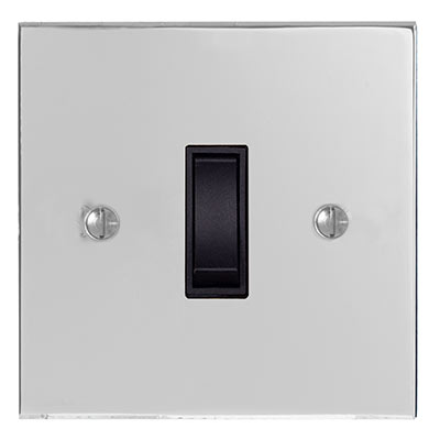 Double Pole Isolator (No Neon) Nickel Bevelled (discontinued, only stock shown available)