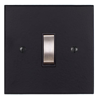 Double Pole Isolator No Neon Steel Switch Bevelled