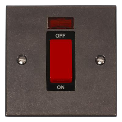 45amp Cooker Switch Polished Bevelled Plate,(discontinued, only stock shown available)