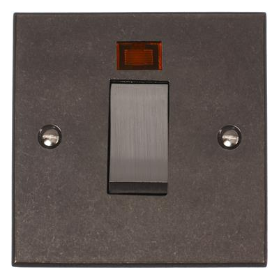45amp Cooker Switch Polished Bevelled Plate, Steel Insert