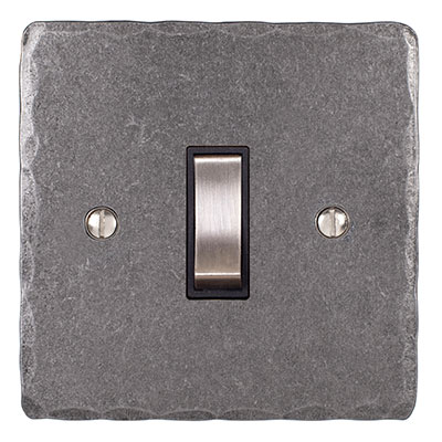1 Gang Steel Grid Switch Polished Hammered Plate