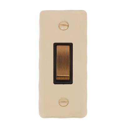 1 Gang Brass Architrave Grid Switch Plain Ivory(discontinued, only stock shown available)