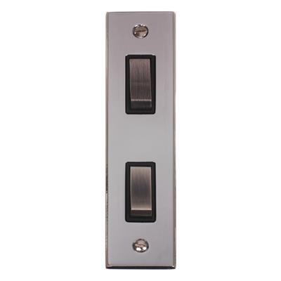 2 Gang Steel Architrave Grid Switch Nickel(discontinued, only stock shown available)