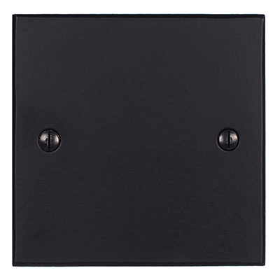 Single Blank Bevelled Plate in Matt Black