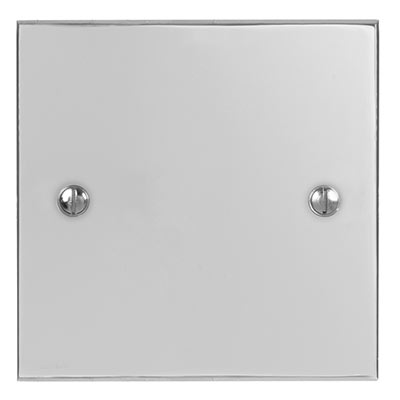 Single Blank Bevelled Plate in Nickel