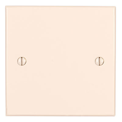 Single Blank Bevelled Plate in Plain Ivory