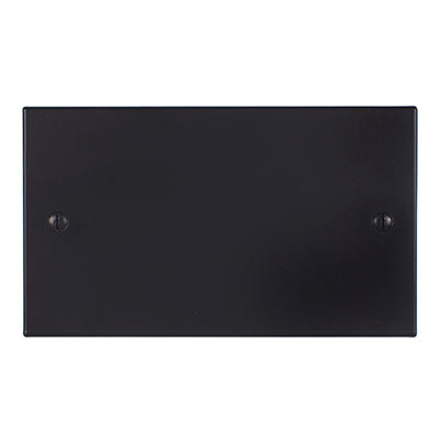 Double Blank Bevelled Plate in Matt Black