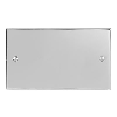 Double Blank Bevelled Plate in Nickel