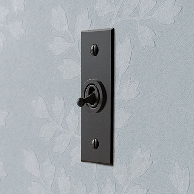 1 Gang Black Dolly Architrave Switch Beeswax Bevelled Plate