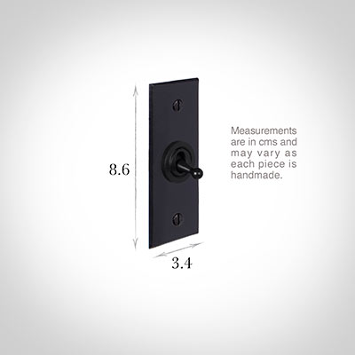 1 Gang Black Dolly Architrave Switch Matt BlackBevelled Plate
