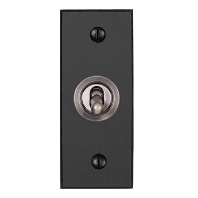1 Gang Steel Dolly Architrave Switch BeeswaxBevelled Plate