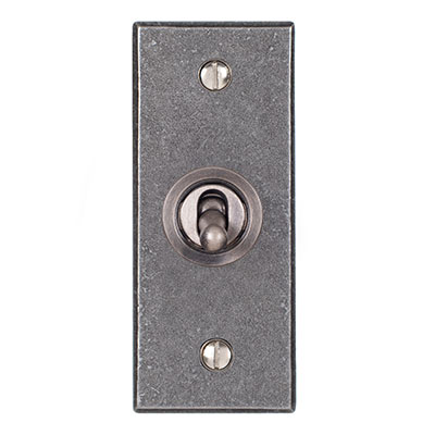 1 Gang Steel Dolly Architrave Switch Polished Bevelled Plate