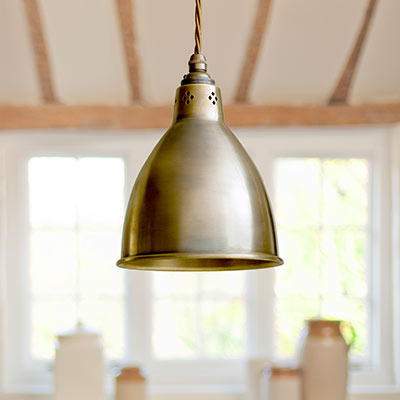 Barbican Pendant Light in Antiqued Brass