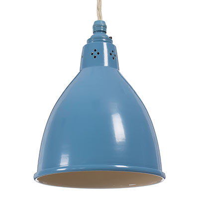 Barbican Pendant Light in Blue