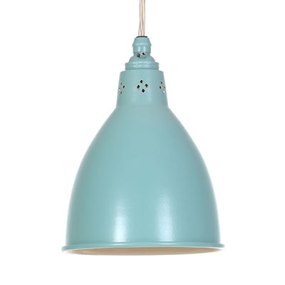 Barbican Pendant Light in Duck Egg Blue