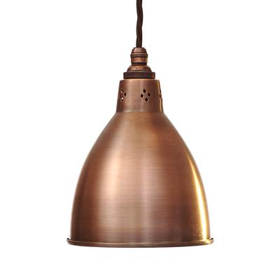 Barbican Pendant Light in Heritage Copper