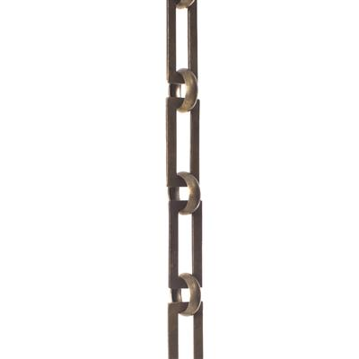 Square Link Chain, 1m Length, Antiqued Brass