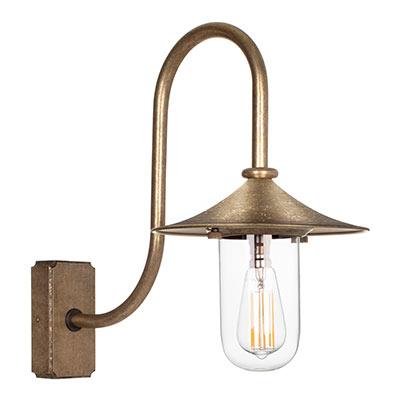 Granary light brass outdoor wall light porch light jim lawrence granary light in antiqued brass aloadofball Image collections