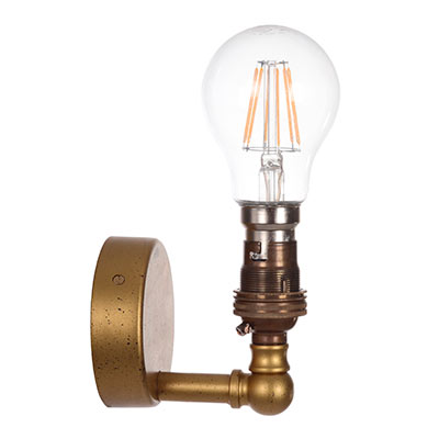 Thorpe Wall Light in Old Gold