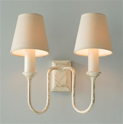 Rowsley Double Wall Light in Old Ivory