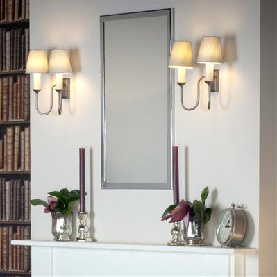 Rowsley Double Wall Light in Polished