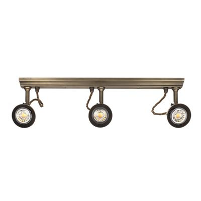 Edgeware Spotlights in Antiqued Brass - 3 Spots