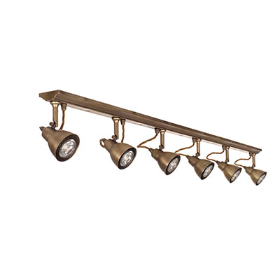 Edgeware Spotlights in Antiqued Brass - 6 Spots