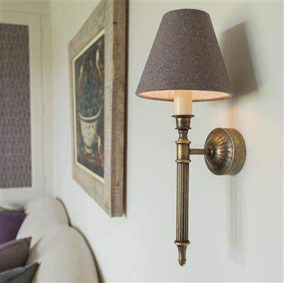 Grantham Wall Light in Antiqued Brass