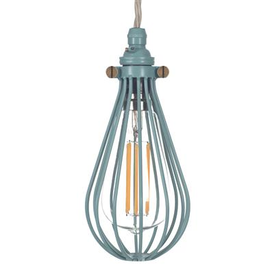 Cowley Pendant Light in Duck Egg Blue