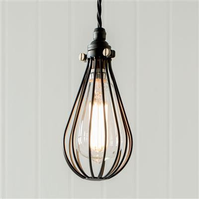 Cowley Pendant Light in Matt Black