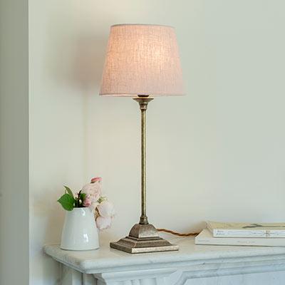 Mansfield Table Lamp in Antiqued Brass