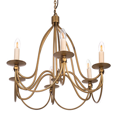Florentine Pendant Light in Old Gold