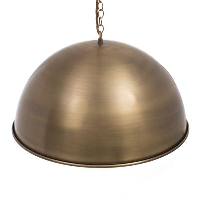 Leiston Pendant in Antiqued Brass (AB interior)