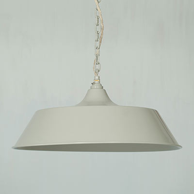 Large Balmoral Pendant Light in Clay (inside white)