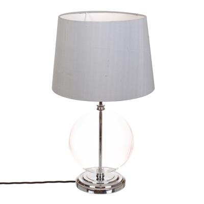 Harleston Table Lamp in Nickel (Plain Glass)
