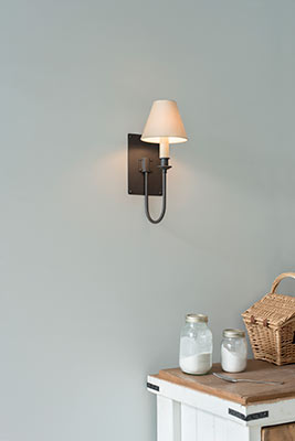 Single Station Wall Light in Beeswax