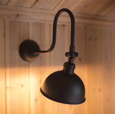 Aldgate Wall Light in Matt Black