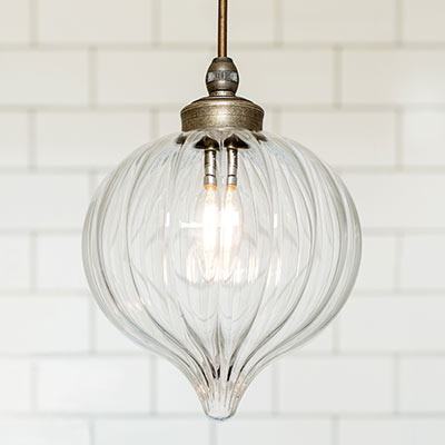 Ava Bathroom Pendant Light in Antiqued Brass