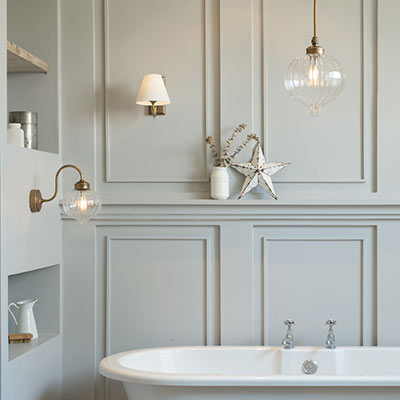 Ava brass bathroom pendant light fluted glass period lighting 3422ab 31g aloadofball Images